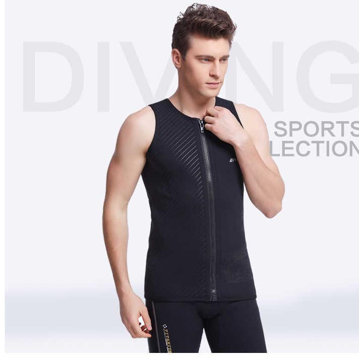 3MM Neoprene Sleeveless Jumpsuit Men Wetsuit Scuba Dive Vest Snorkeling Suit
