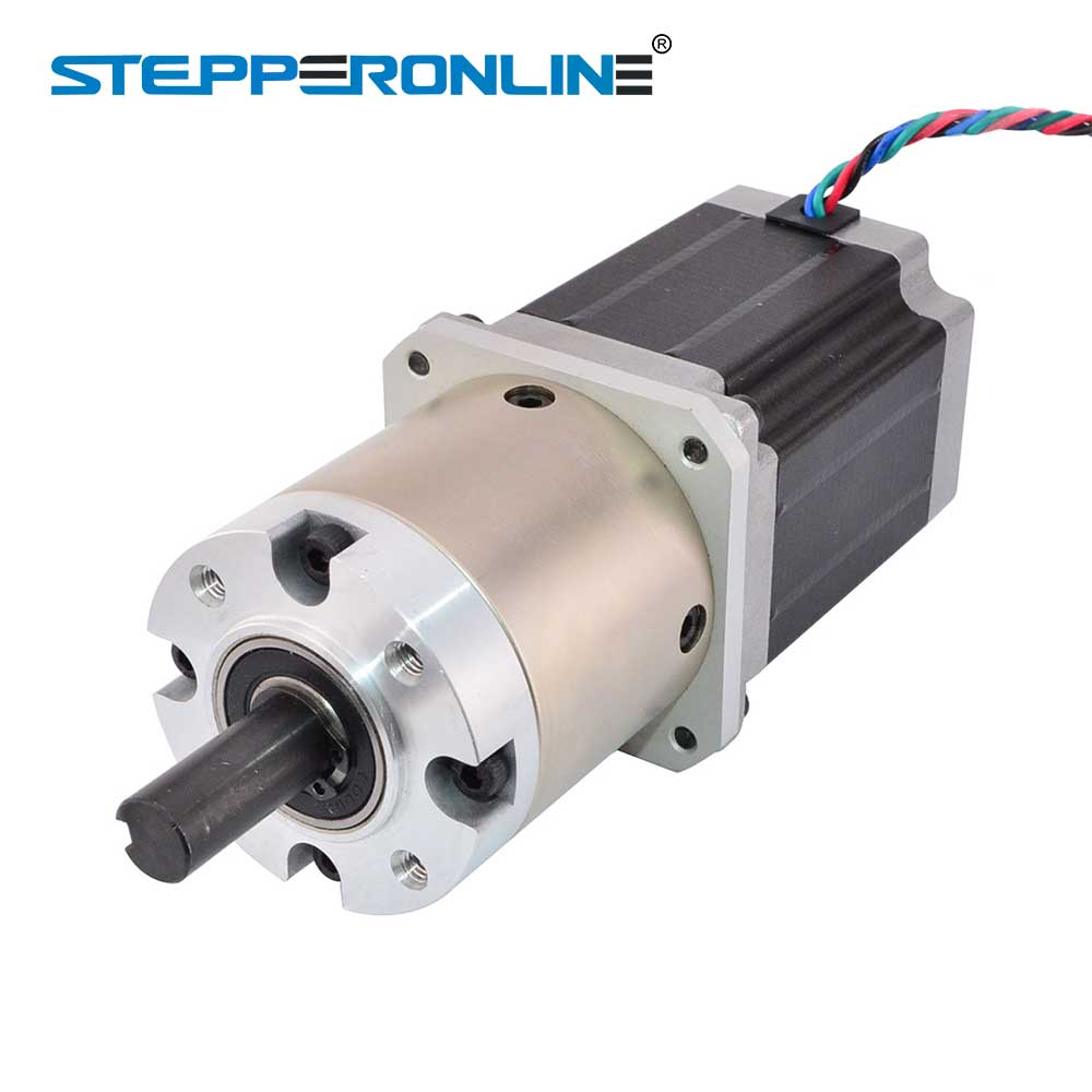 4Lead NEMA 23 reduction gearbox Stepper Motor Gear ratio 15:1,3A 20N.M CE LONGS