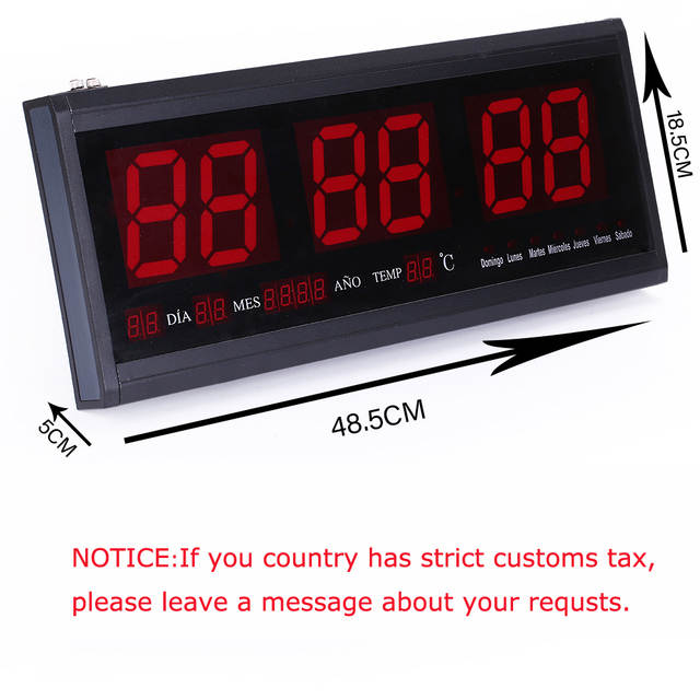 Big Number Electronic wall clock digital Desk Table LED wall ...