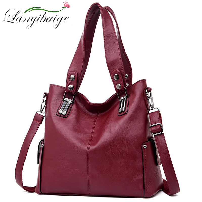LANYIBAIGE Luxury Handbags For Women Leather Shoulder Bag Designer Female Casual Tote Bag Sac A Main Femme Ladies Hand Bags 2019