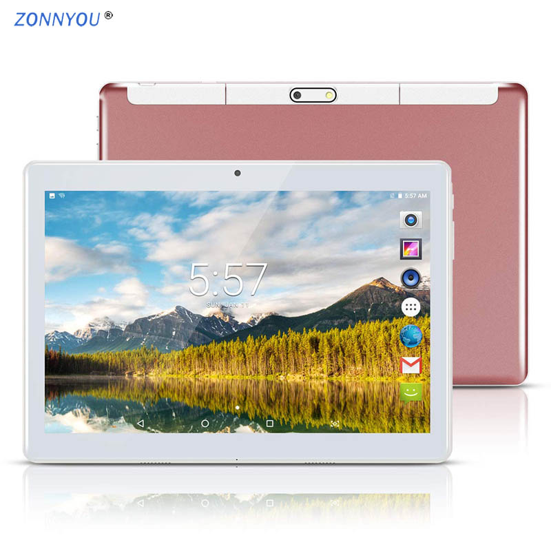 10 Inch IPS Screen 3G Phone Call Android Tablet PC Android 4GB 64GB Android 7.0 Octa Core Dual SIM Support Mobile Phone GPS