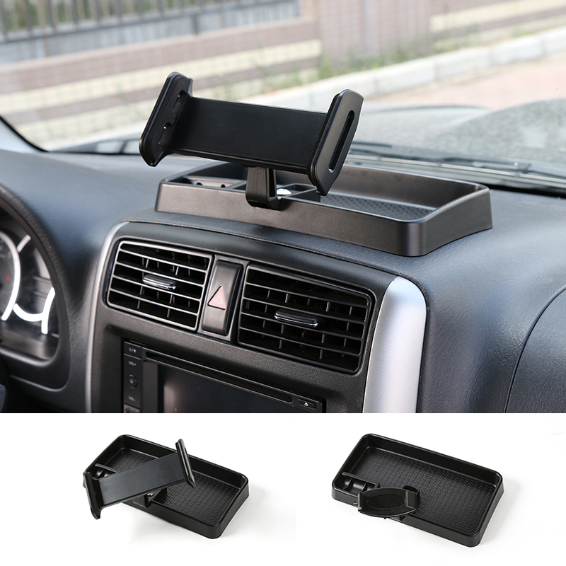 SHINEKA Universal Auto Mobile Phone Stand IPad Cellphone Holder 360 Degree with ABS Storage Box GPS For Suzuki Jimny