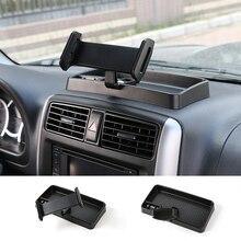 Universal Auto Mobile Phone Stand IPad Phone Holder 360 Degree with ABS Storage Box GPS For Suzuki Jimny