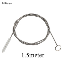 Силиконовый очиститель для пивных труб, воздушный насос, шланг, спиральная Чистящая Щетка 150 см, фильтрующие трубы для 8-10 мм, силиконовая трубка