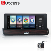 Ruccess 3G 7 Inch GPS Navigation Car Camera DVR Android Navigator Dual Lens DVRs FULL HD
