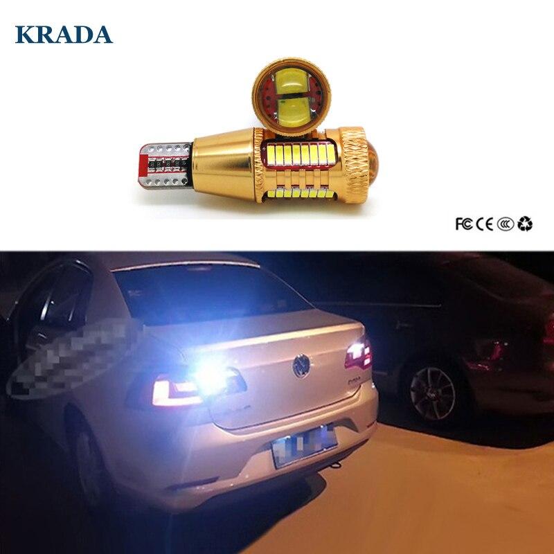 KRADA 2pcs T15 W16W Car LED Lamp White Auto Canbus Bulb for Volkswagen VW Passat B7 B5 B6 Golf 4 5 6 Bmw E60 E61 F10 Mini Cooper