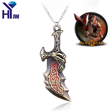 HEYu Fashion Game God Of War Series Necklace Sword OLYMPUS KRATOS Blades of Chaos Necklace Jewelry Classic Weapons Necklace god of war chains of olympus