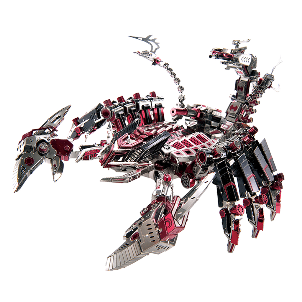 746pcs/ set 3D Metal Puzzle - DIY Fighting Scorpion Robot Model Assemble Model Kits Jigsaw Building Toy Home Decor Souvenirs цена