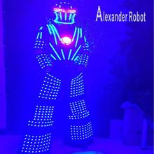 LED Costume /LED Clothing/Light suits/ Robot Kryoman robot/ ALexander  robot