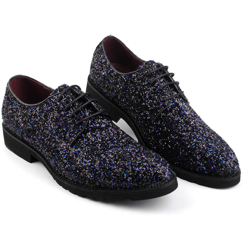 8def50fee04d1 ... Europe bling Flat Leather gz Shoes Rhinestone Fashion Mens Loafer Dress  Shoes Men Casual Diamond dancing ...