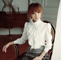 Women Victorian Blouses Black White Blusa Feminina 2015 Summer High Neck Fashion Office Uniform Shirts chiffon Top Plus Size