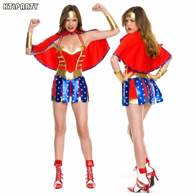 KTLPARTY Super Girl Ladies Wonder Woman Costume Fancy Dress Women Halloween costumes blue women superhero supergirl dress  sc 1 st  Aliexpress & Online Shop KTLPARTY Super Girl Ladies Wonder Woman Costume Fancy ...