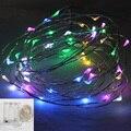 2 M 3 M 4 M 5 M LED Fio de Cobre luzes Cordas de Fadas Casamento Do Natal Do Feriado Da Bateria AA Operado luzes do partido Decoração Festiva