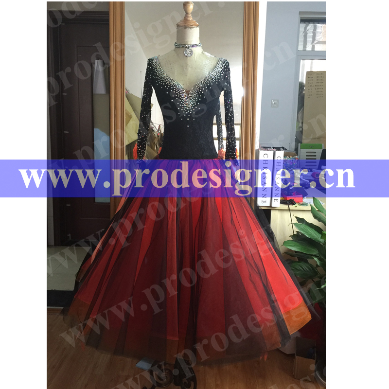 New! Ballroom dance costumes sexy senior beads sleeveless ballroom dance dress for women ballroom dance competition dresses