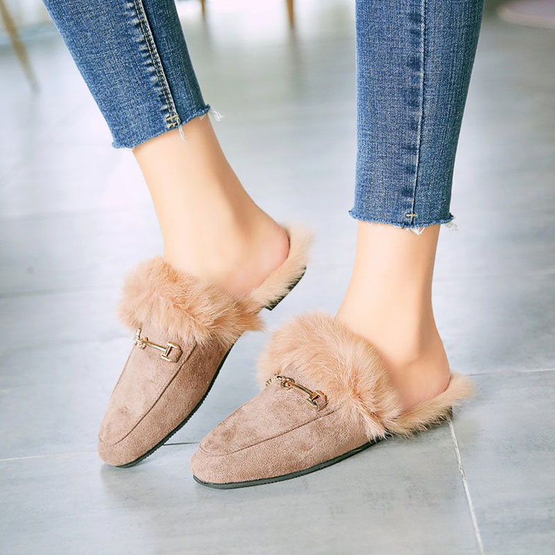 9fe935c3242 Women s Slide On Slip On Mule Loafer Flats Shoes Slides Slippers New  Fashion Woman Mules-in Slippers from Shoes on Aliexpress.com