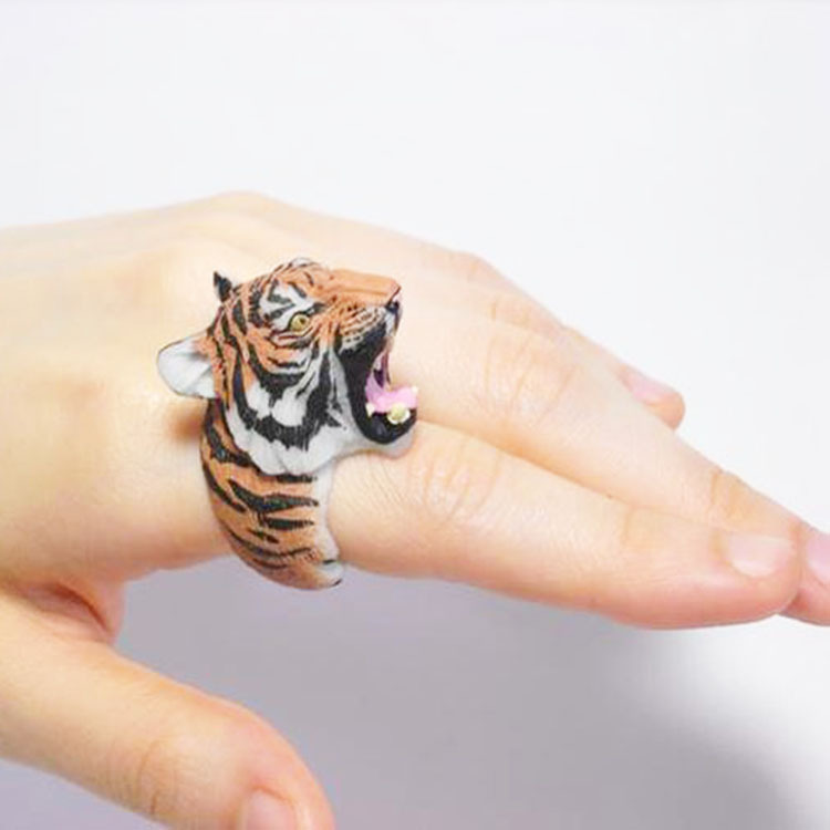 Fun Christmas Gifts For Wife Part - 42: New Design For Fun Good Present Unusual Animal Sex Womens Ring Tiger Ring  Best Gift For Christmas