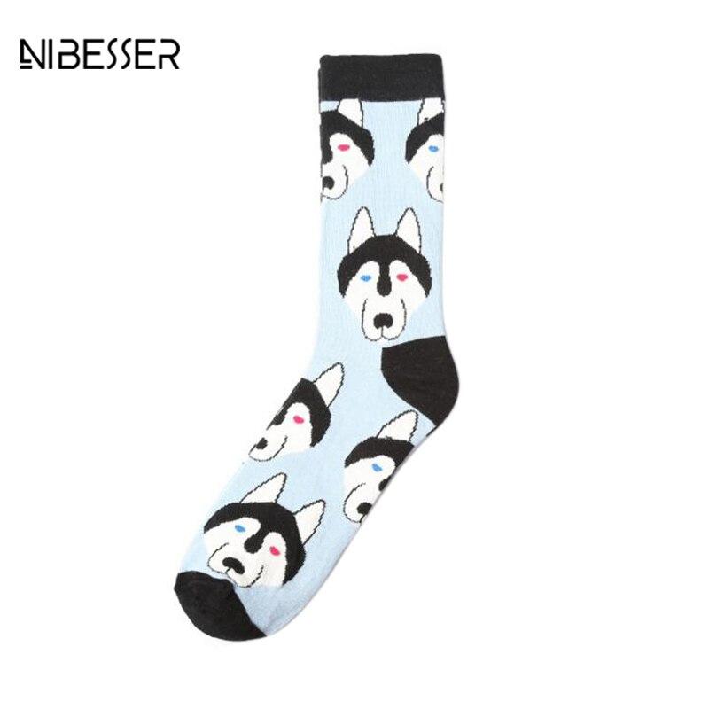 NIBESSER Cute Animal Pattern Men Women Crew Socks Multicolor Funny Harajuku Socks Kawaii Cartoon Printing Socks Accessories