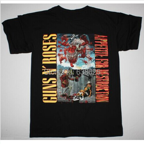 2015 New Arrival Fashion Men T Shirt Guns N Roses Appetite For Destruction 87 Axl Rose Slash Mens Rare Tshirt Design Print Tee Shirt Software Shirt Collarshirt Dog Aliexpress
