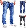2017 Nueva Moda Primavera Verano Estilo de Personalidad de Los Hombres Decorativos Cremallera Casual Jeans Pantalones de Los Hombres Del Envío Gratis