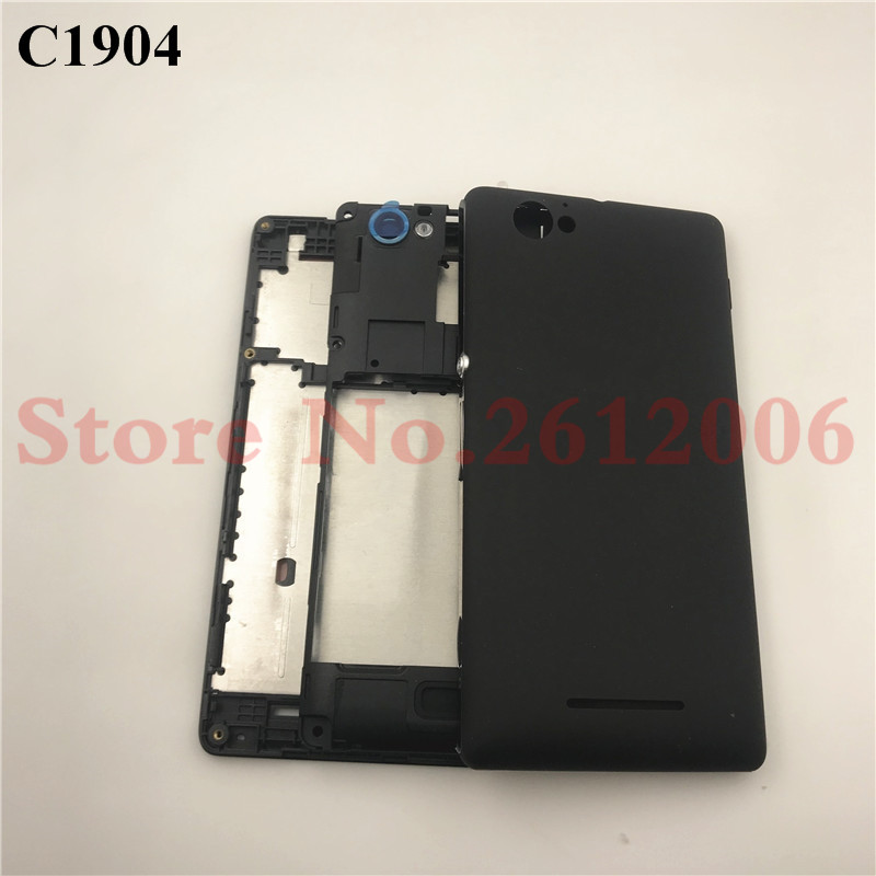 Full Housing For Sony Xperia M C1904 C1905 C2004 C2005 LCD Panel Middle Frame Case Battery Door Cover Side ButtonFull Housing For Sony Xperia M C1904 C1905 C2004 C2005 LCD Panel Middle Frame Case Battery Door Cover Side Button