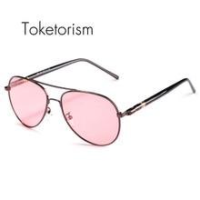 Toketorism New hot glasses polarized night vision sunglasses alloy frame for men 902A