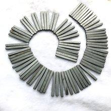 Длинные бусины из гематита 5x5x45 мм для ожерелья фурнитура