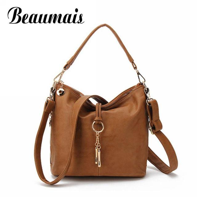 5758e2b7333d Beaumais Bucket Crossbody Bags Retro Top-Handle Bags Handbags Women  Messenger Bags Female Shoulder Bag