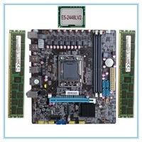 mainboard New Desktop Motherboard X78 LGA 1356 with E5 2448LV2 + 32G(16G*2)RAM set M.2 ddr3 ecc ram port 32G USB3.0 M ATX