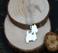 handmade-boho-chic-west-highland-white-terrier-necklace-fashion-cartoon-dog-jewelry-silvergold-two-color-plated-12pcslot