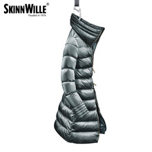 skinnwille 2018 High quality down coat female fashion thickening womens winter jackets and coatsdown jackets(China)