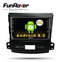 Funrover ips 8 «Android8.0 автомобильный dvd gps плеер радио для Mitsubishi Outlander 2008-2014 peugeot 4007 Citroen C-Crosser 2din радио