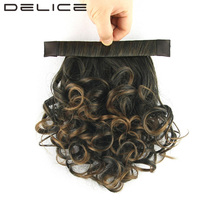 DELICE 12inch Women Clip In Afro Curly Ponytail Synthetic Heat Resistance Fiber Drawstring Rope Horse Tail Hairpieces