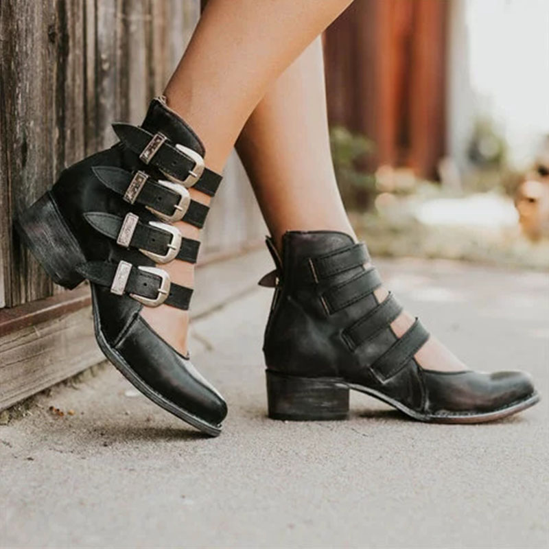 VTOTA New High Heels Women 2019 Mary Jane Thick High Heels ...