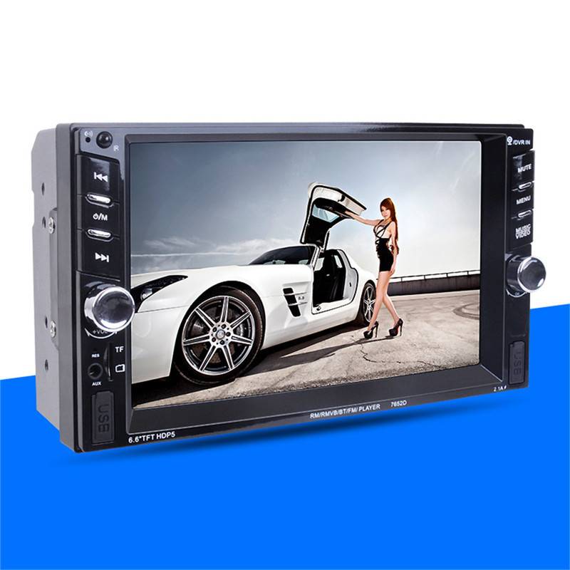 7652 2DIN 6.6'HD Touch screen Car Radio Player autoradio Bluetooth Rear View Camera Stereo FM/MP3/MP5/Audio/USB Auto Electronic 2 din 7 car radio player hd rear view camera bluetooth stereo fm mp3 mp4 mp5 audio video usb auto electronics autoradio charger