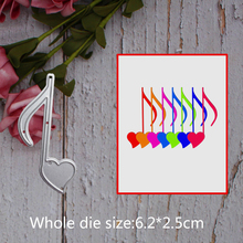 music Note decoration  Metal steel frames Cutting Dies DIY Scrap booking Photo Album Embossing paper Cards6.2*2.5cm