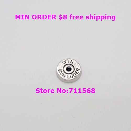 Replica WIN 9mm LUGER Bullet Head Floating Charm Bullet Locket Charm For Glass Floating Locket Accessories