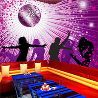Free Shipping Colorful 3D Magic Ball KTV Bar Commercial Large Mural Wallpaper Wallpaper Bedroom Living Room