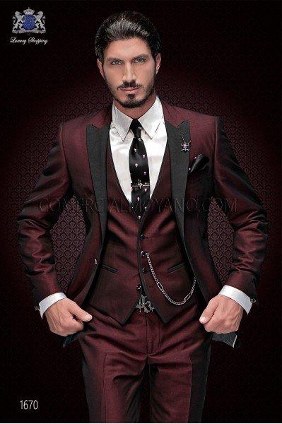 2017 Latest Coat Pant Designs Burgundy Men Suit Slim Fit Skinny 3 Piece Italian Tuxedo Custom Groom Gentle Suits Terno Masculino
