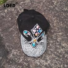 2016D54 cotton bling bling Rhinestone man made diamond anchor hat baseball caps for women