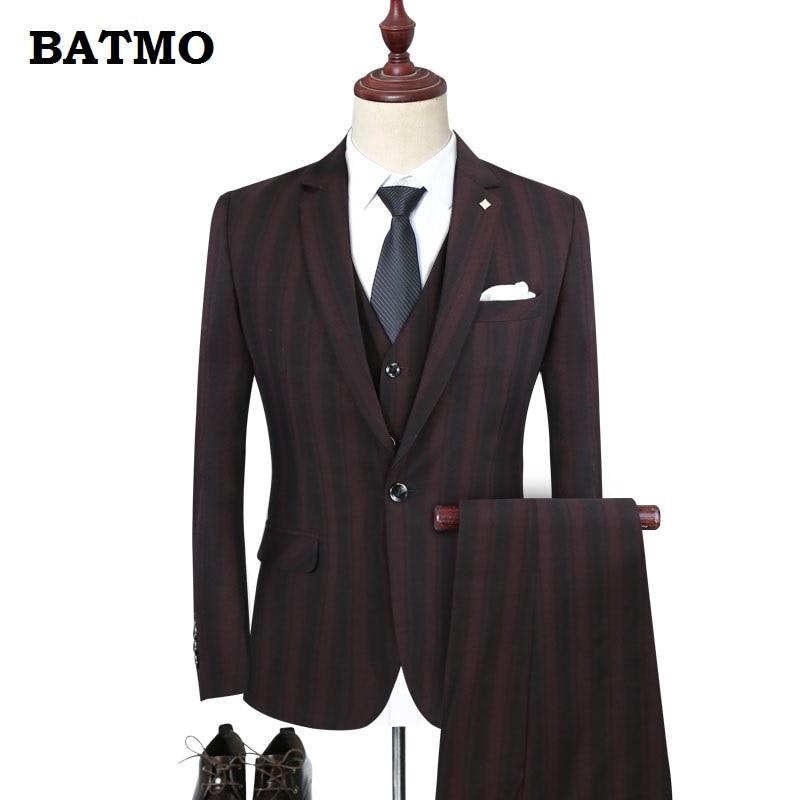 Robe taille wine 2018 5xl Red Costumes M navy Haute Batmo Arrivée Rayé MariagePlus Gray Occasionnels HommesHommes De Qualité Blue Tz95 Nouvelle 8n0OkwNXP