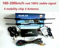 Бесплатная доставка 180 200 км/ч 4 антенны DVB T2 автомобиля 4 чип мобильности Цифровой автомобиль ТВ тюнер HD 1080 P DVB T2 автомобиля ТВ приемник
