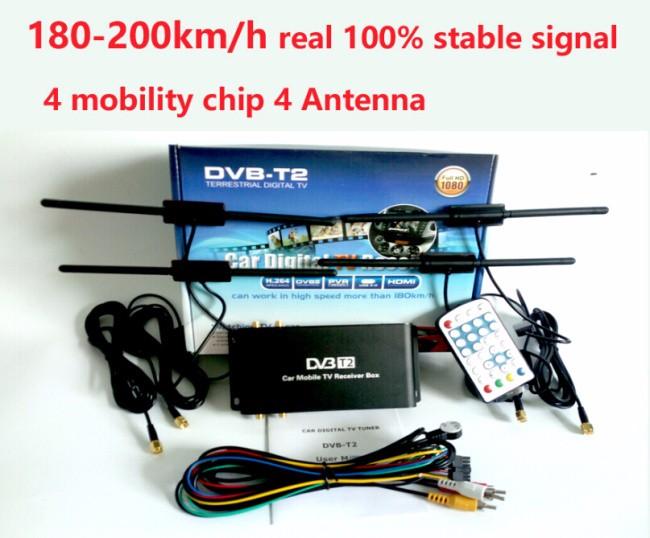 free shipping 180 200km h 4 antenna dvb t2 car 4 mobility. Black Bedroom Furniture Sets. Home Design Ideas