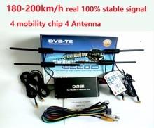 Бесплатная Доставка 180-200 км/ч 4 Антенна DVB T2 Автомобиль 4 Мобильности Цифровой Автомобиль ТВ-Тюнер HD 1080 P DVB-T2 Автомобиль ТВ приемник