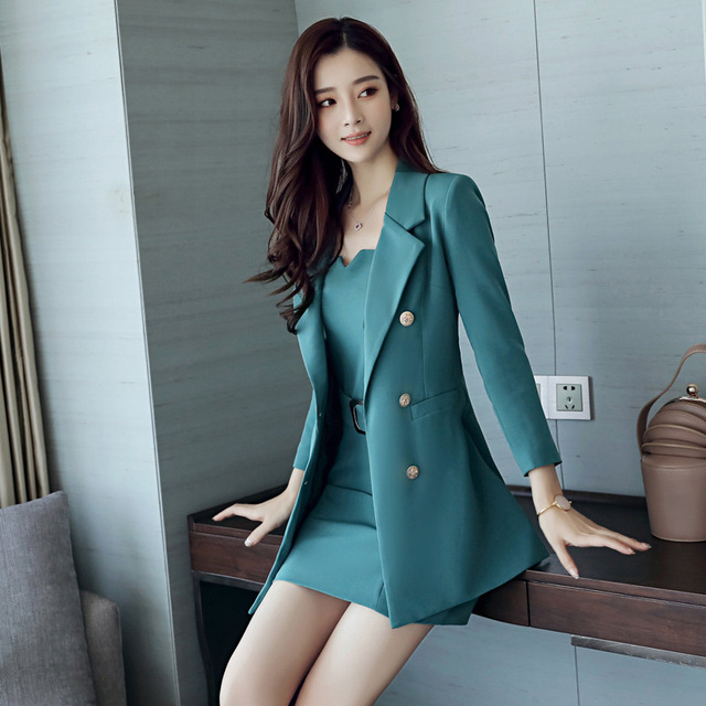 Mode Kleding Dames.Herfst Vrouwen Jurk Business Zaken Pak Vrouwelijke Mode Kleding