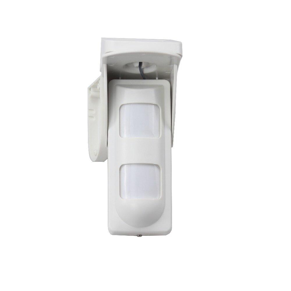 GZGMET énergie solaire 433 MHZ capteur de mouvement pir extérieur étanche détecteur d'alarme immunitaire pour animaux de compagnie pour système d'alarme de sécurité domestique pet