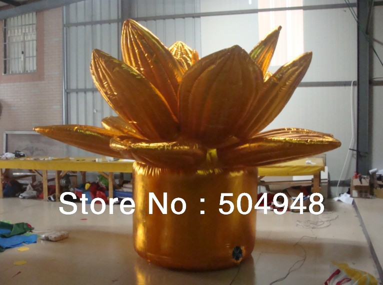Golden Inflatable Flower For Decoration 2017 new inflatable flower long wedding decoration flower