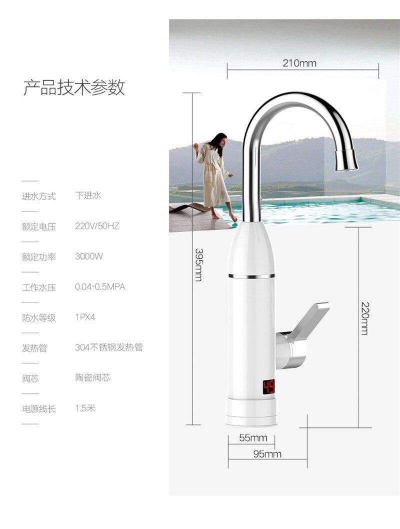 aquecedor de água quente torneira de aquecimento