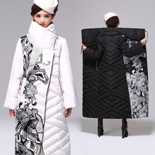 Korean Thick Warm Winter Jacket Women 2016 X long Plus Size XXXL Warm Duck Down Coat