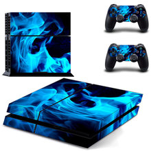 Blue fire Vinyl Decal PS4 Skin Sticker For PS4 Playstation 4 Console + Controllers Skins