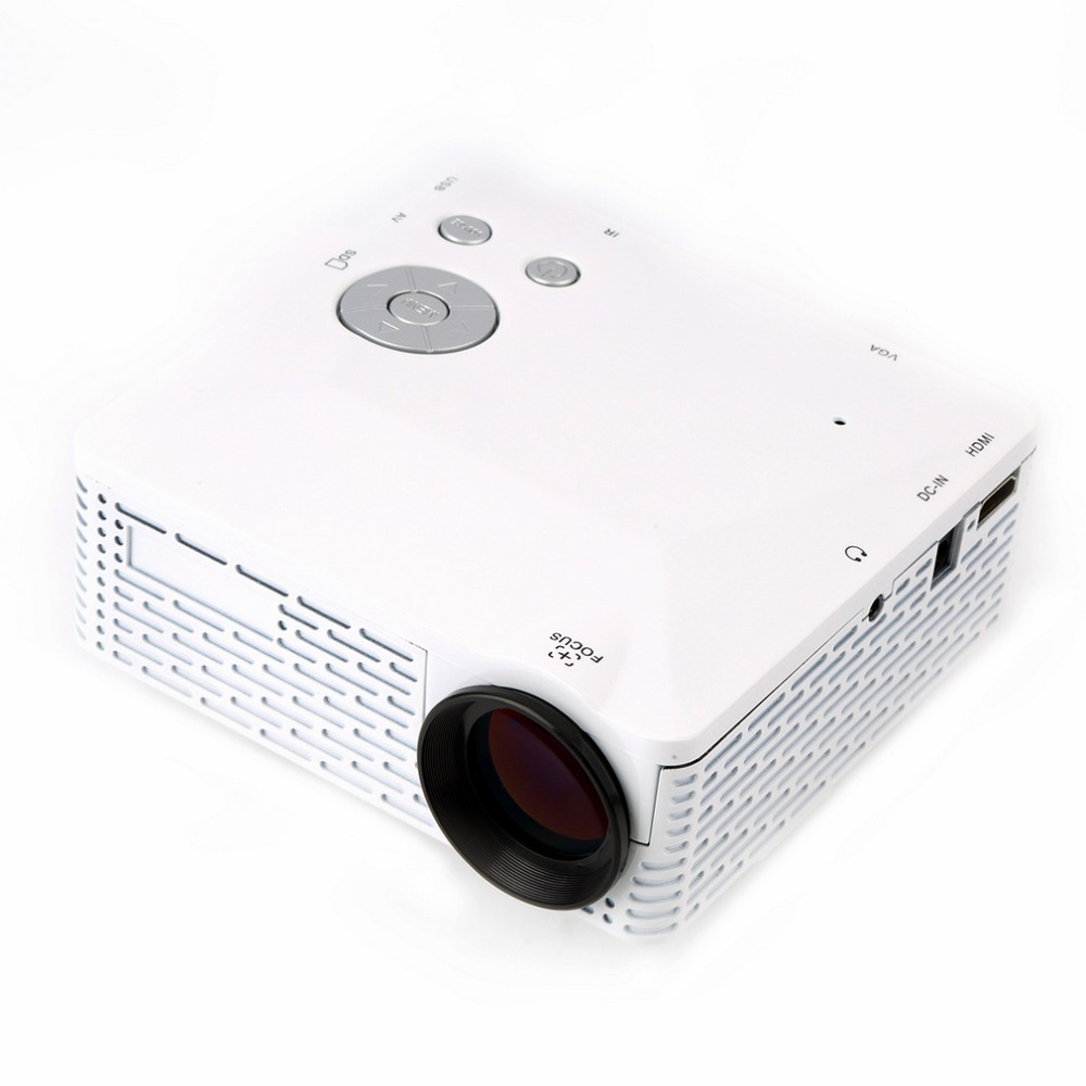 Mini LED Projector Pico Portable Proyector 3D Projector HDMI Home Theater Beamer Multimedia Video Full HD 1080P US Plug White mini portable multimedia player dvd player home theater projector led proyector